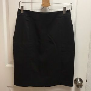 Black work pencil skirt